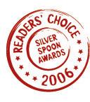Readers Choice Silver Spoon Awards 2006 logo
