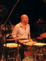 a musician playing drums