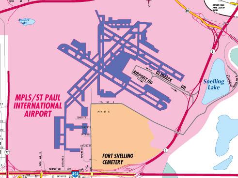 Minneapolis airport map