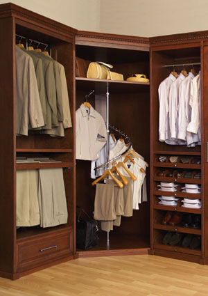 a well-organized closet