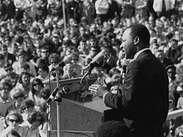 Martin Luther King picture in 1968 Exhibit