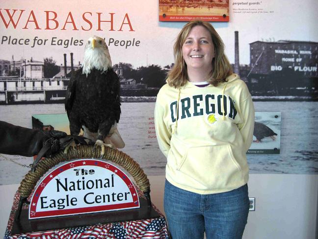 Me at National Eagle Center in Wabasha