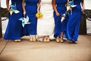 Heater and bridesmaids