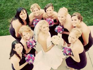 Tina and bridesmaids