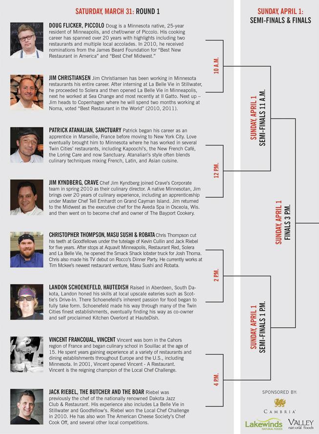 2012 Local Chef Challenge Schedule