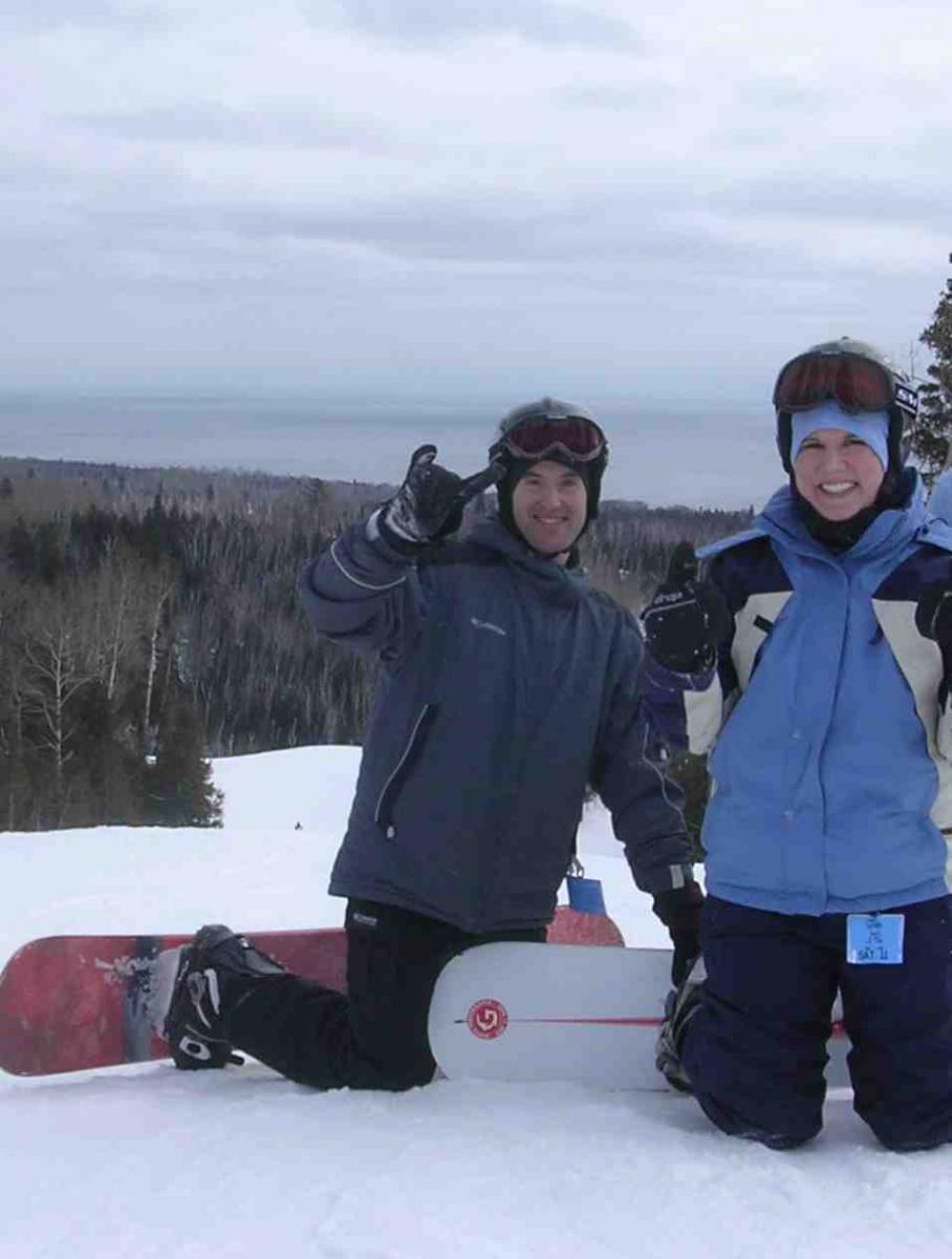 Snowboarding at Lutsen Mountains