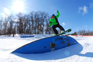 snowboarding at Afton Alps