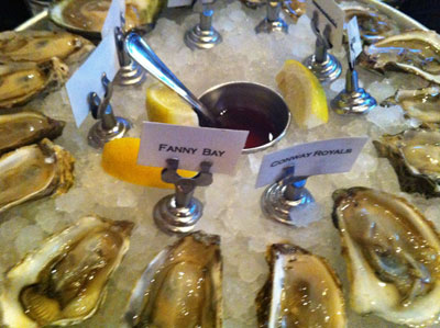 Meritage oysters