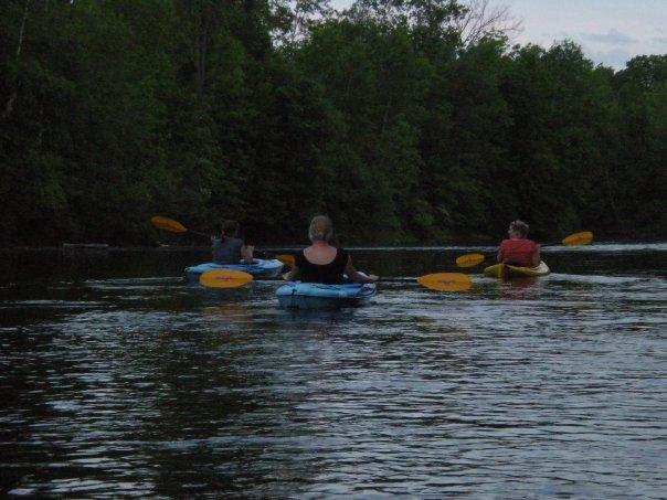 kayaking on the Peshtigo