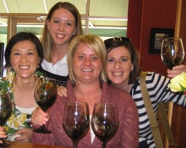 Wine tasting with the girls