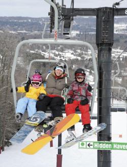 Family on chair life at Granite Peak