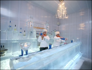 Ice Chamber bar at Le Meridien