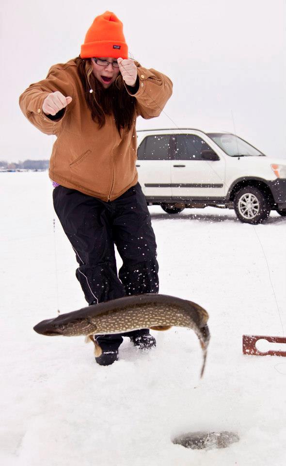 Ashley ice fishing