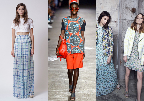 Florals and plaid spring 2014 fashion style