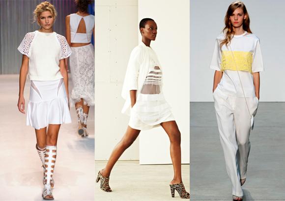White spring fashion trend