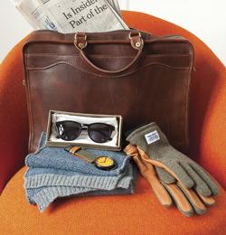 Sunglasses, Brief Case, Gloves