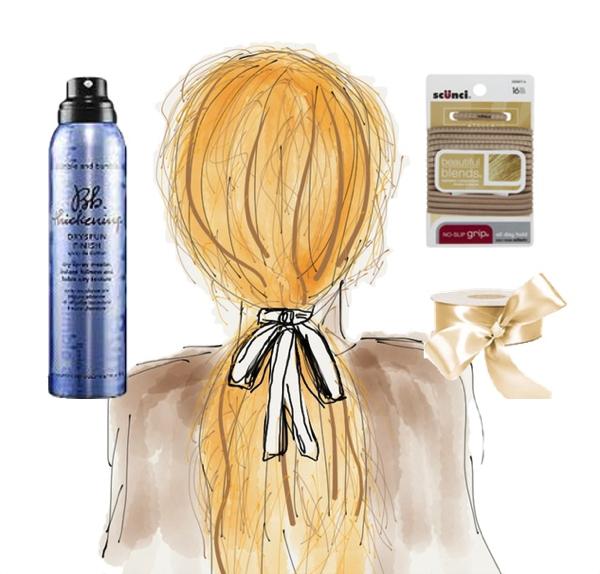 Loose textured ponytail