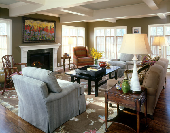 1930s Cape Cod Living Room After