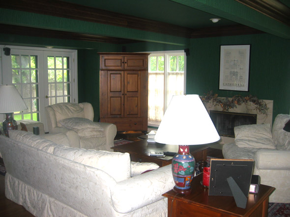 1930s Cape Cod Living Room Before