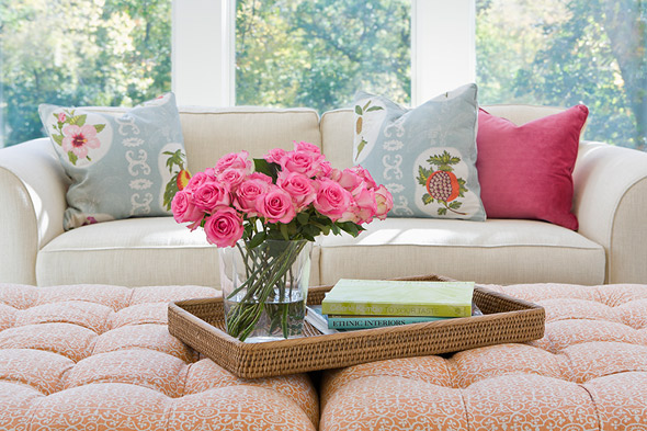 Roses on tray