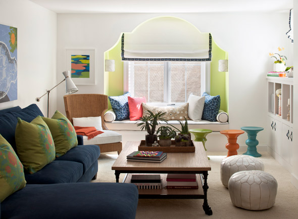 Moroccan flair living room