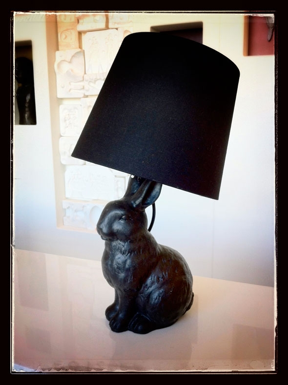 Rubber Bunny Lamp