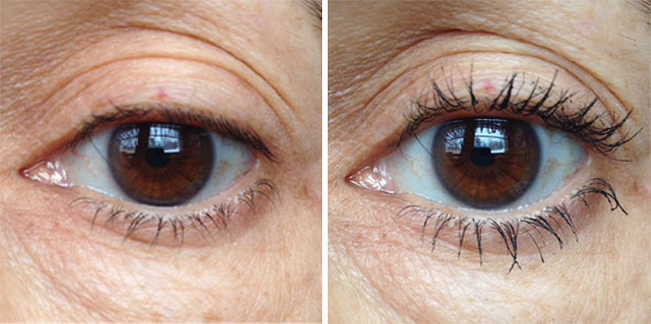 Upside Down Mascara Before and After