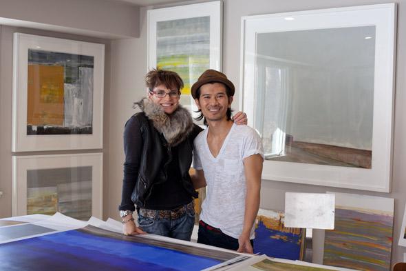 Karen Schneider and Theo Nguyen