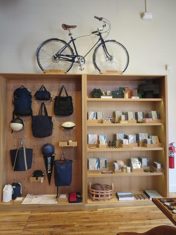 A display at Shinola