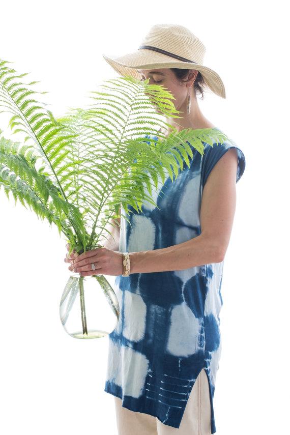 Indigo & Snow's Organic Shibori Tunic, $75 at etsy.com