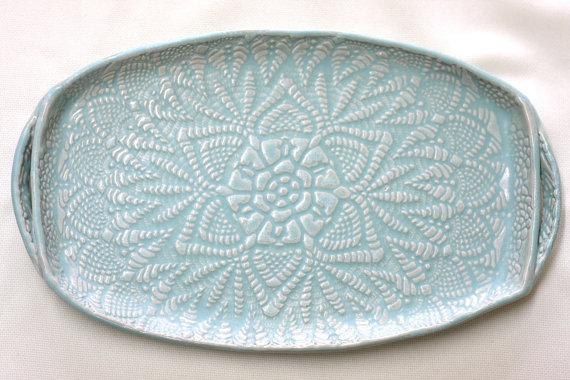 Ceramic Appetizer Plate, $60