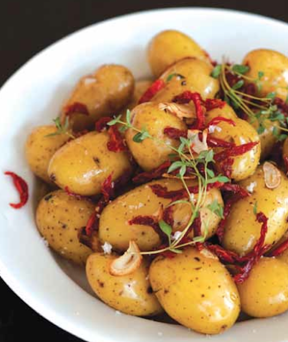 Little Potatoes and Sun-dried Tomatoes Al Cartoccio