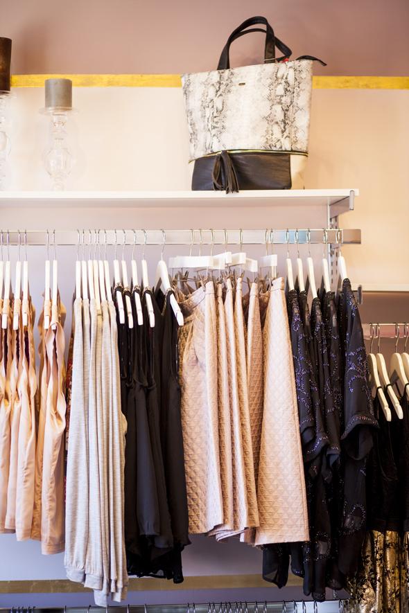 Primrose Park rack of clothes