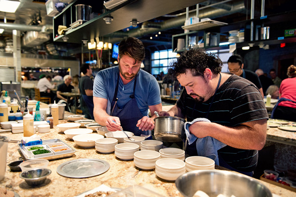 In the kitchen at Travail