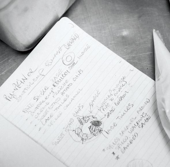 The Bachelor Farmer Chef Khanh Tran's notes