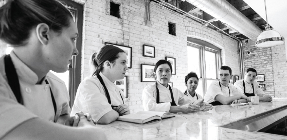 Khanh Tran with her staff at The Bachelor Farmer