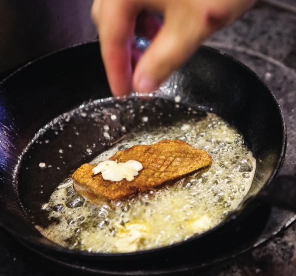 Tilia dish in the pan