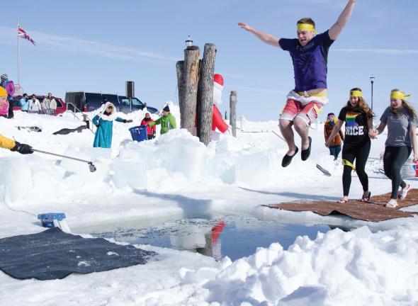 Bayfield polar plunge festival