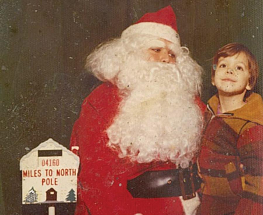 Quinton with Santa Claus