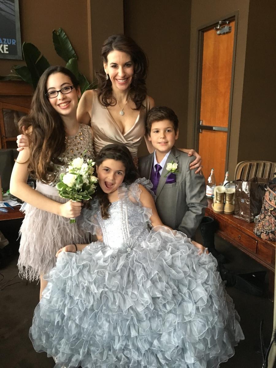 Jordana Green's kids on her wedding day