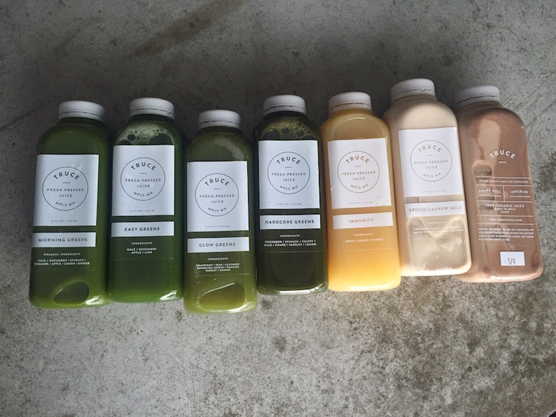 Truce juice, minnesota, twin cities