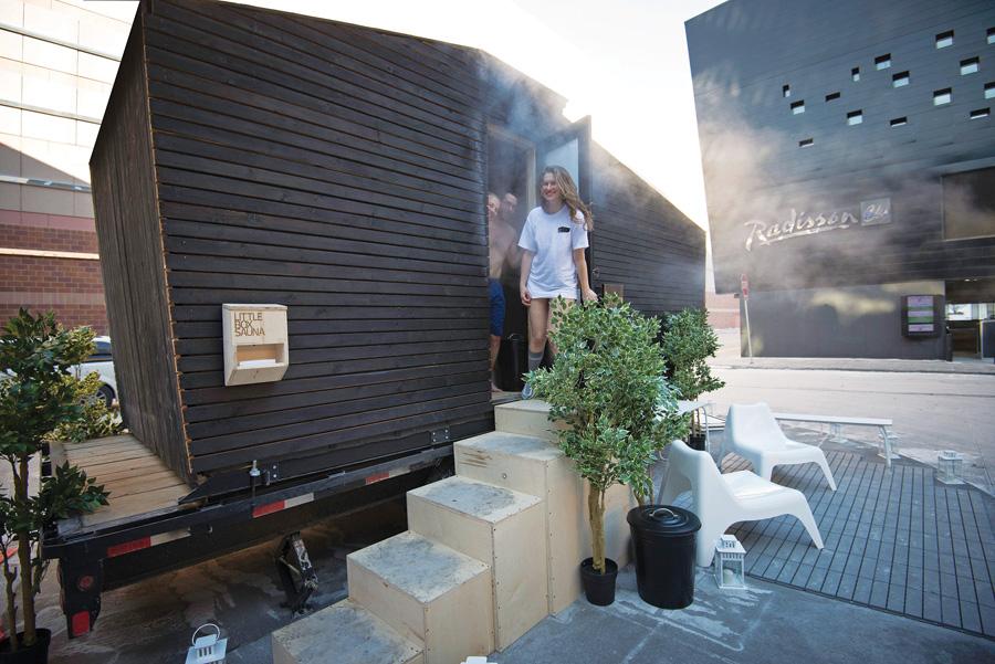 little box sauna, mobile sauna, 612 sauna society, twin cities, minneapolis, minnesota