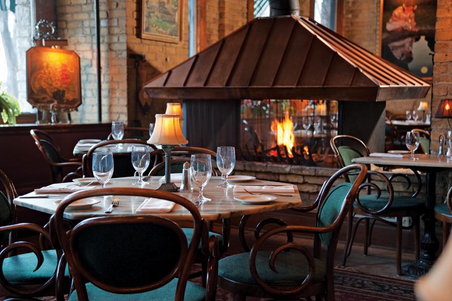 WA Frost, fireplace, restaurant, twin cities, minnesota, warm