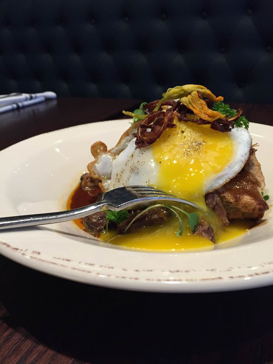 handsome hog, oxtail, duck egg, twin cities