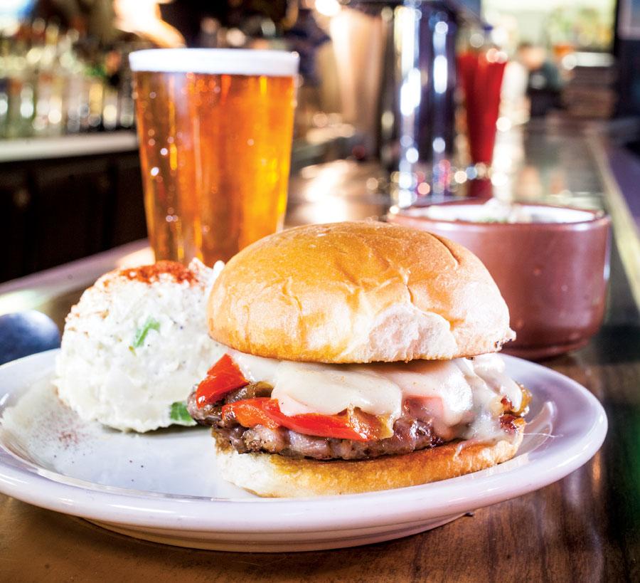 Dusty's Bar hot dago sandwich