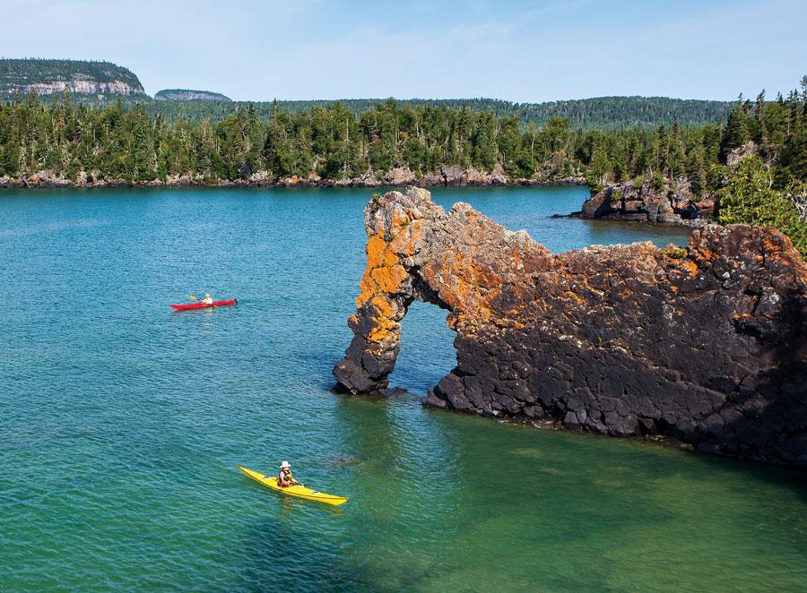 sea lion rock, giant provincial park, lake superior, minnesota travel