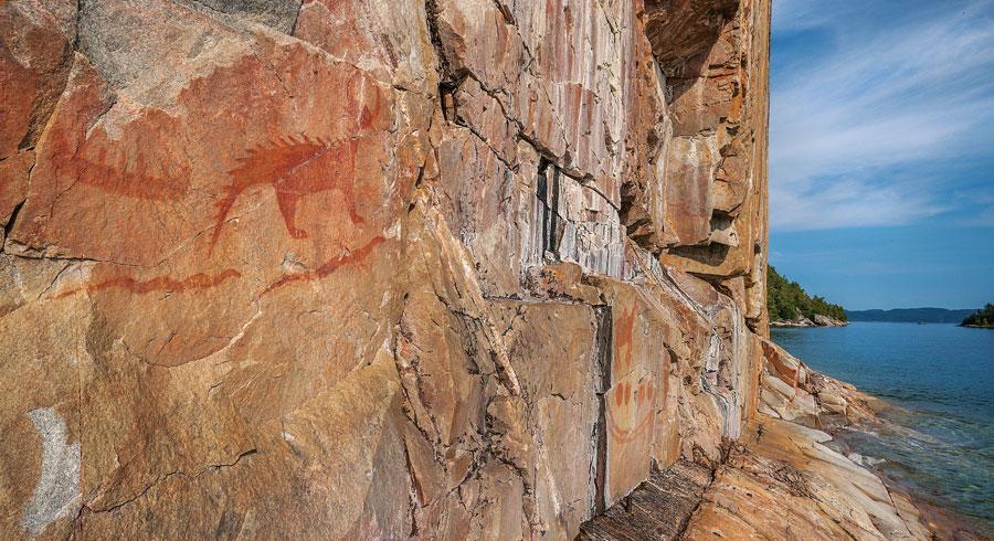 agawa rock, ontario, superior, provincial park, lake superior, canada