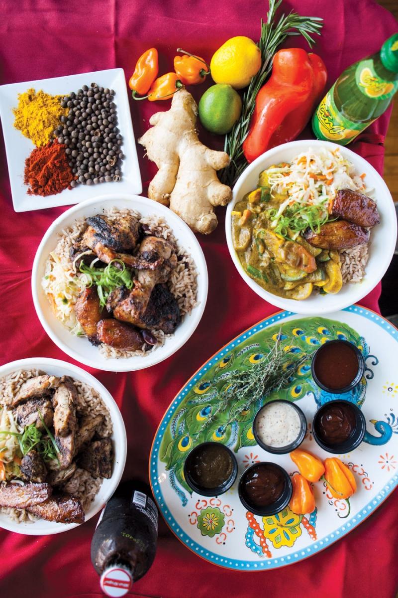 pimento jamaican kitchen, jamaican food, restaurants, restaurant rumble, jason and joy