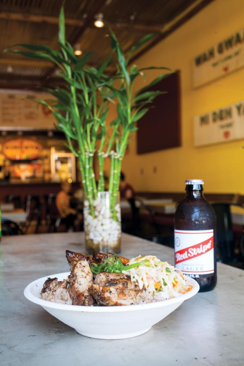 pimento jamaican kitchen, jerk chicken, jamaican food, restaurant rumble, jason and joy