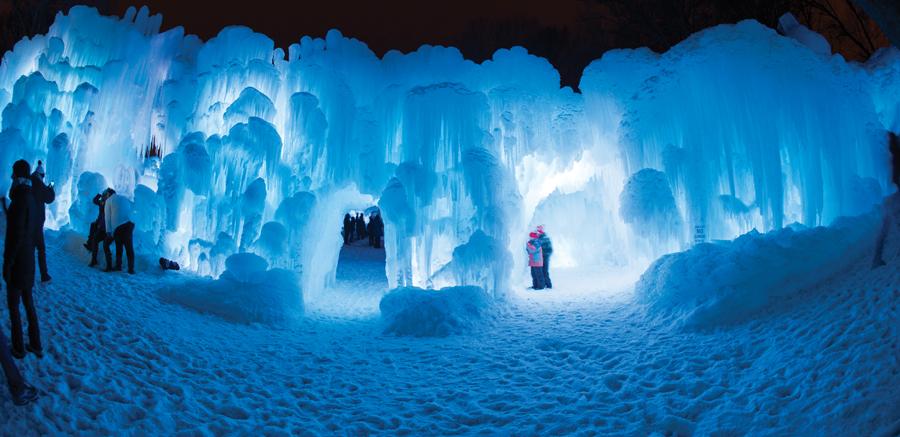 Ice Castles, Stillwater, Minnesota